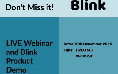 LIVE Webinar with Blink Product Demo targeting our Southeast Asia Market